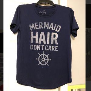 Francescas Navy Mermaid Hair Don't Care Shirt